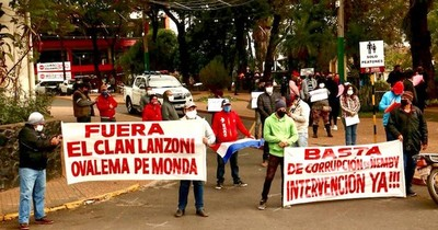 Cierran Acceso Sur en Ñemby como protesta contra Lucas Lanzoni