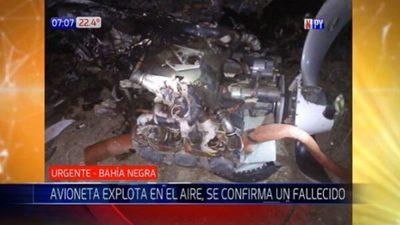 Un fallecido en explosión de avioneta en el Chaco