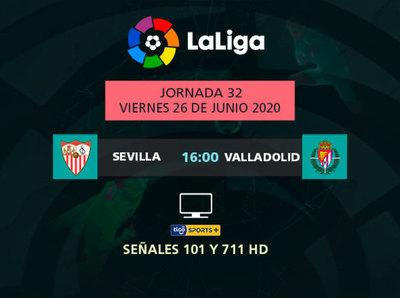 Sevilla recibe a Valladolid en el inicio de la fecha 32 de La Liga
