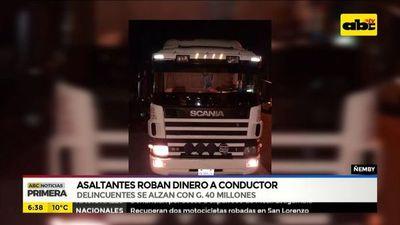 Roban G. 40 millones a conductor de un camión