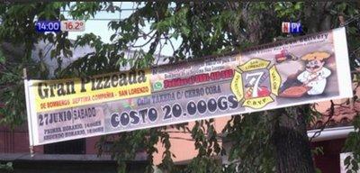San Lorenzo: Bomberos voluntarios organizan pizzeada ante falta de ayuda estatal