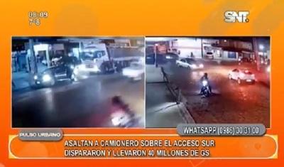 Delincuentes asaltan a camionero y se llevan millonaria suma