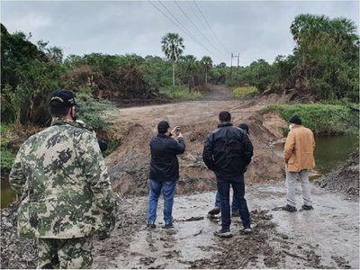 Intervienen obras por taponar riacho Mosquito en Alto Paraguay