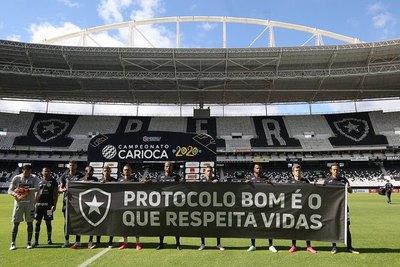 Sin 'Gatito', Botafogo protesta por volver a jugar en plena pandemia