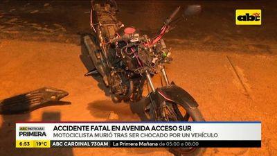 Accidente fatal sobre Acceso Sur