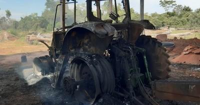 Nativos queman máquinas y estancia: se trataría de acción contra desmonte en bosque de Concepción