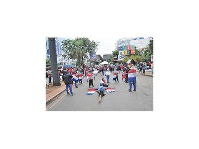 En CDE continúan las manifestaciones contra la corrupción