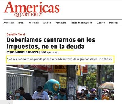 """""""América Latina tiene que aumentar impuestos"""" afirma ex Director Ejecutivo de la CEPAL"""