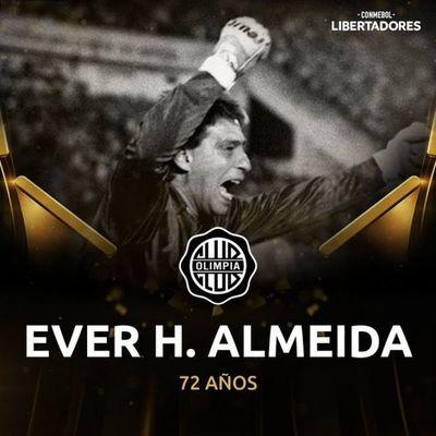 Conmebol celebra los 72 años de Ever H. Almeida, bicampeón de la Libertadores