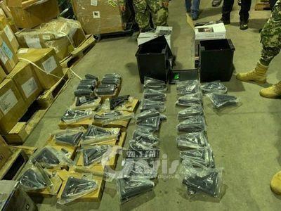 Incautan piezas de armas de fuego en el Aeropuerto Silvio Pettirossi
