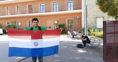 Paraguayo sobresaliente: Estudiar en plena crisis redobló desafío, dice joven masterando en España