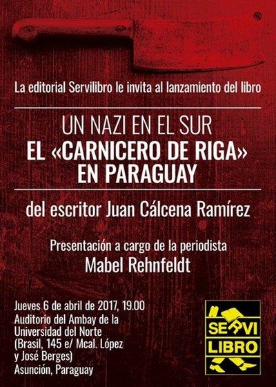 """Presentan libro """"El carnicero de Riga"""" del periodista Juan Cálcena Ramírez"""