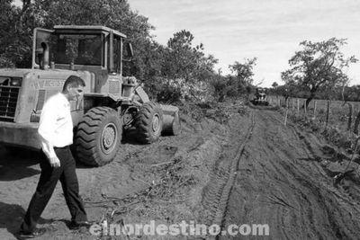Se intensifican trabajos realizados por la Secretaría de Obras Viales de la Gobernación de Amambay en las colonias