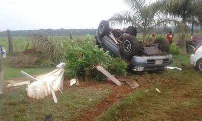 Accidente con suerte en Pastoreo
