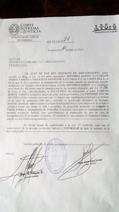 Concejal Departamental por Añetete en comprometedora situación.