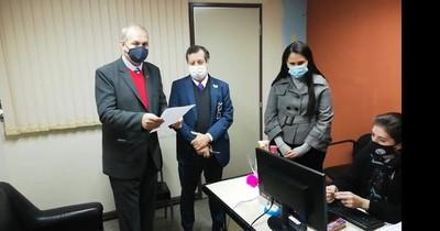 Mario Ferreiro se presentó para la imposición de medidas