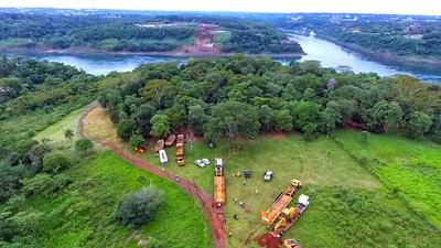 Puente de la Integración: maquinarias ya se encuentran en la zona de Presidente Franco para arranque de obras