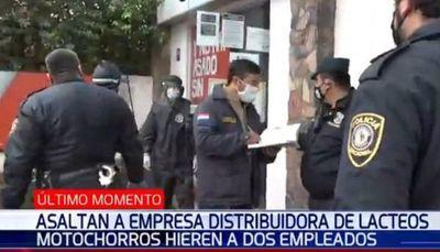 Dos personas heridas tras violento asalto en San Lorenzo