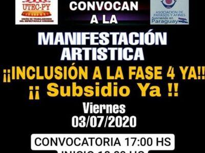 Manifestación artística: Payasos piden ser incluidos en la 4ta. fase de la cuarentena inteligente