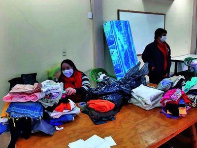 Solidarios asisten a familias  de Bella Vista tras temporal