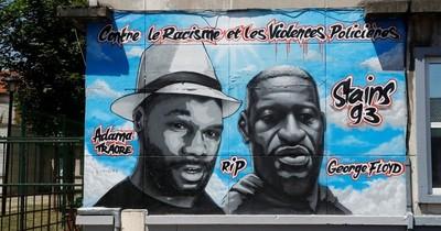 Vandalizado en Francia un fresco en homenaje a George Floyd