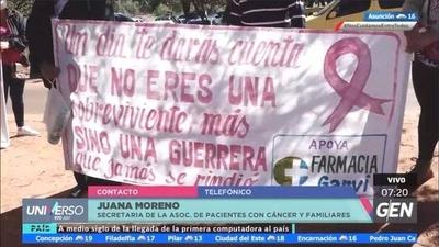 HOY / Juana Moreno, secretaria de la Asociación de Pacientes con Cáncer, señaló que están recibiendo los medicamentos solicitados