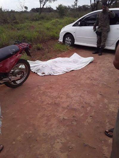 Motociclista perdió la vida tras accidentarse en zona rural de Pedro Juan Caballero