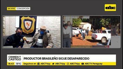 Productor brasileño sigue desaparecido