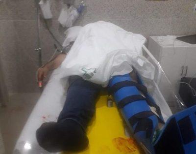 Obrero cae de una altura  considerable y sufre heridas – Diario TNPRESS