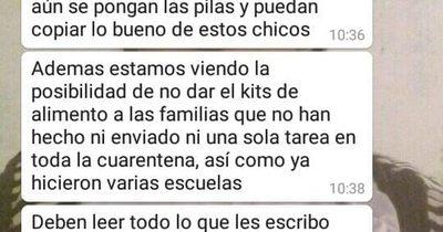 """""""Sin tareas, no hay paraíso"""": condicionan kits de alimentos en escuela de Itauguá"""