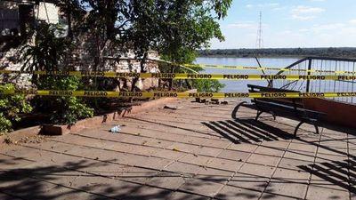 Clausuran acceso al mirador Ita Pytã Punta por desmoronamiento de su estructura