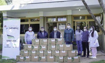 » Grupo Sarabia contribuye con más 1000 litros de  alcohol en gel a instituciones del Departamento Central