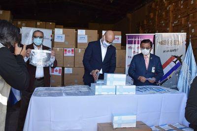 Ministerio de Salud recibió 25.000 toneladas de insumos