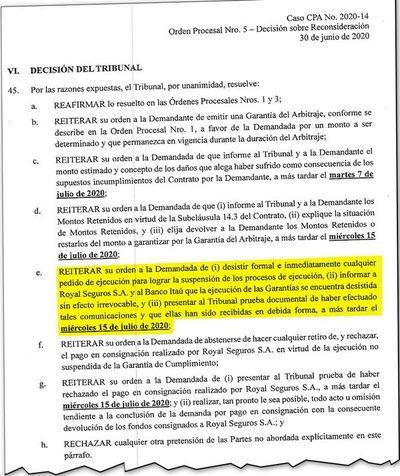 Tribunal vuelve a ordenar que MOPC desista de las pólizas del metrobús
