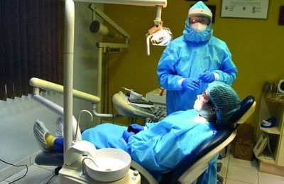 Al dentista en tiempos del covid