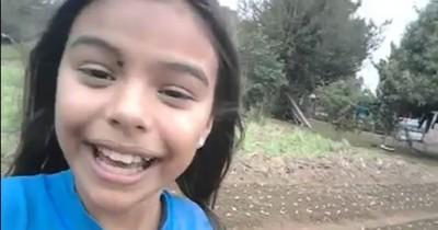 Video de niña paraguaya cantando en huerta de abuelos emociona en las redes