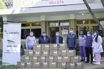 Grupo Sarabia contribuye con 1000 litros más de  alcohol en gel a instituciones de Central