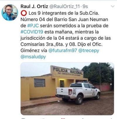 Detenido en sede policial de Pedro Juan da positivo al covid-19