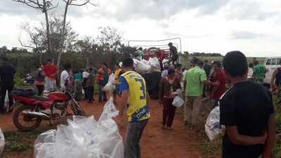 SEN y Gobernación asisten a comunidades indígenas de Itakyry