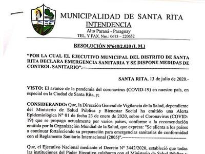 Santa Rita se declara en Emergencia Sanitaria tras brote de Covid-19