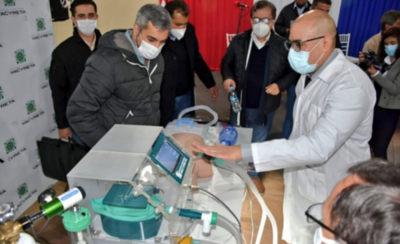 HOY / Ponen a disposición de Salud Pública ventilador para pacientes con covid-19