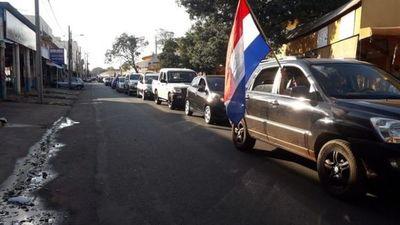 Caravana de comerciantes de Pedro Juan pide mayor asistencia del Gobierno