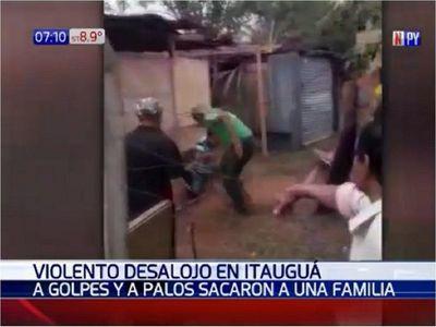 Batalla campal en supuesto desalojo en Itauguá