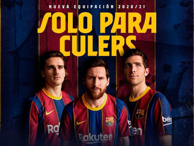 Barcelona presenta su casaca para la próxima temporada