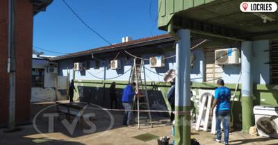 Jóvenes Adventistas se unen para mejorar la fachada del Hospital Regional