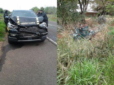 Caminera protagoniza accidente de tránsito en Yby Yaú