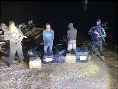 Dos detenidos con artículos electrónicos en el río Paraná