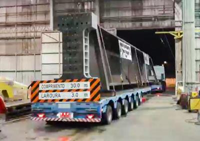 Puente de la Integración: Gigantesca viga llega a la zona de obras