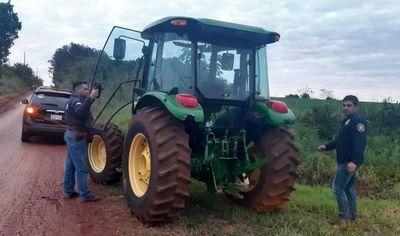 Recuperan tractor tras detención de un mecánico