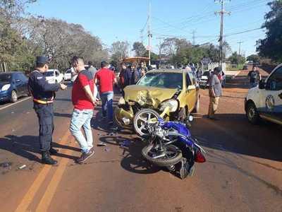 Motociclista muere tras violento choque frontal contra automóvil sobre Ruta 07